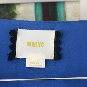 Anthropologie Dresses - Anthropologie Maeve blue wrap dress